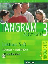 Hueber TANGRAM AKTUELL 3 Kursbuch+Arbeitsbuch Lektion 5-8 Niveau B1/2 @USED@