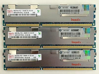 HP 12GB (3x4GB) PC3-10600R DDR3-1333MHz ECC 500203-061 Proliant Server Memory