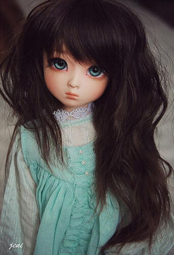 BJD 1//4 Doll lovely Gril Dami Human eyes head face make up with free eyes