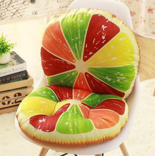 3D fruit Patio Chair Office Seat Pads Tie On Pad Cushion Kitchen Home Decor Hot