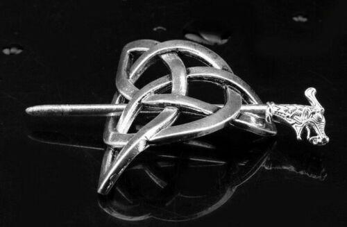 Women Hairpin Celtic-Knot Metal Stick Slide Hair Clip Retro Hair Jewellery Gift