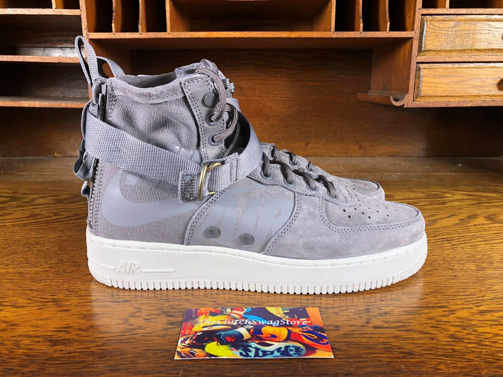 Nike SF-AF1 Mid Mens High Top shoes Gunsmoke Wolf Grey 917753-007 NEW Size 8