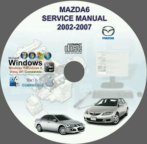 mazda 6 service repair manual on cd 2002 2007 mazda6 02 03 04 05 rh ebay com Mazda Auto Repair Manual Mazda 6 Shop Manual PDF