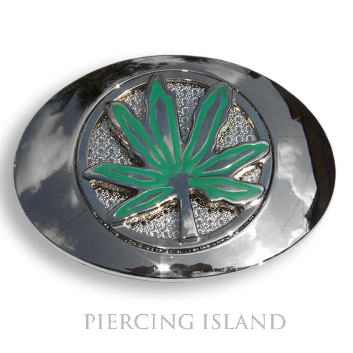 Belt Buckle Metal Buckle Grass Hemp Marijuana Leaf Swivel gs019