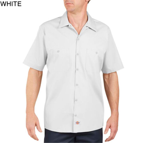 DICKIES Mens CUSTOM SCRIPT Short Sleeve Work Shirt Classic Workwear Uniform S-5X