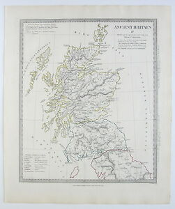 Sduk Map Ancient Britain Scotland England 1834 Published 1844 Ebay