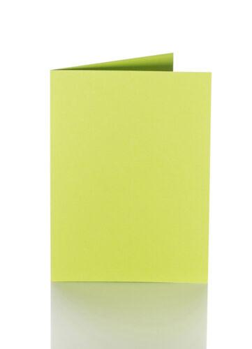 10 farbige blanko Faltkarten Klappkarten 150 x 200 mm 240 g//qm