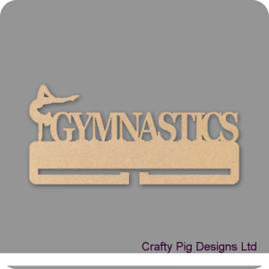Female Gymnastics Medal Holder 4mm MDF Wooden Craft Blank