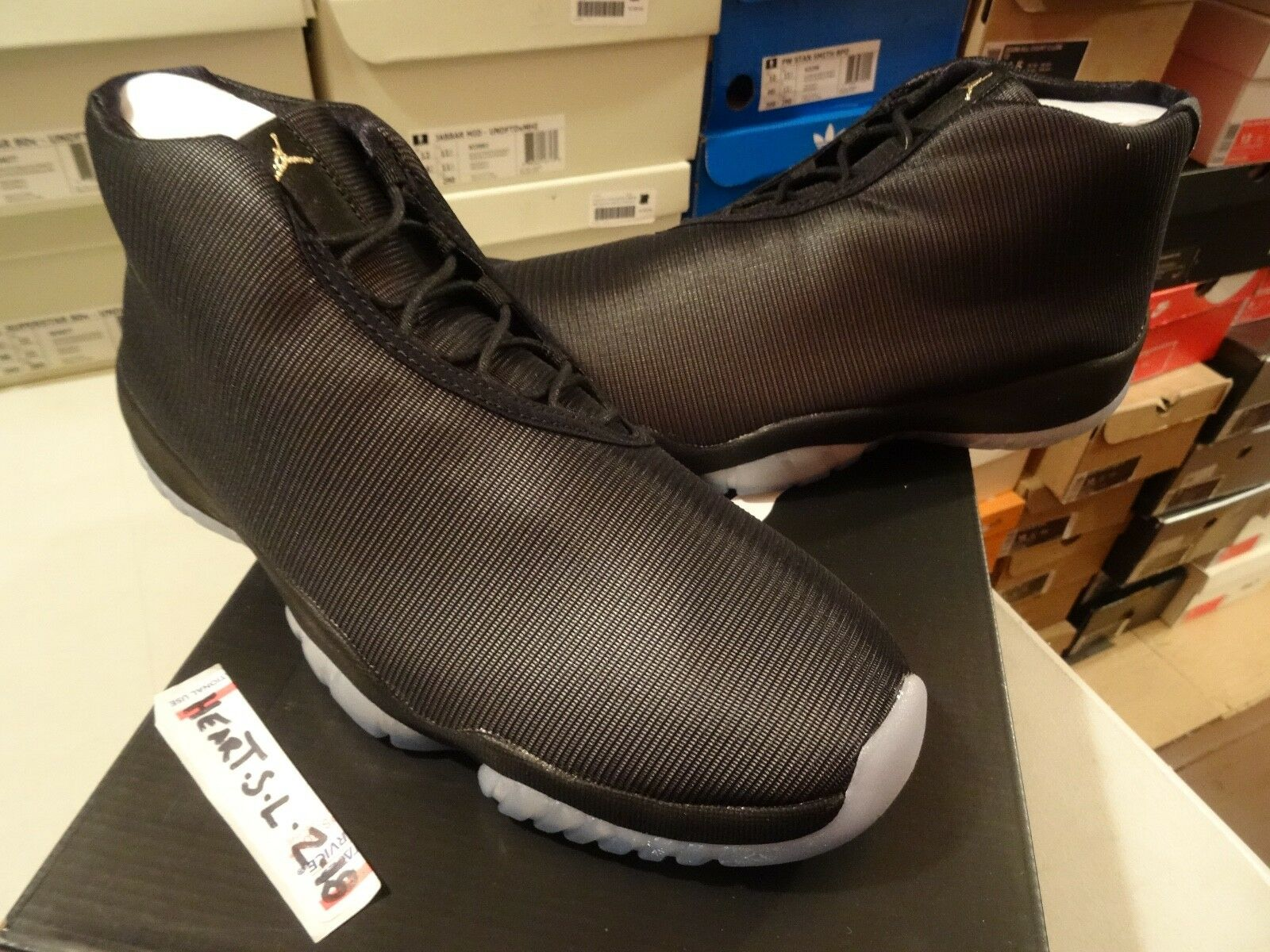 NEW DS Nike Air Jordan Future Black Clear 3M Reflective Glow 656503-011 SZ 10