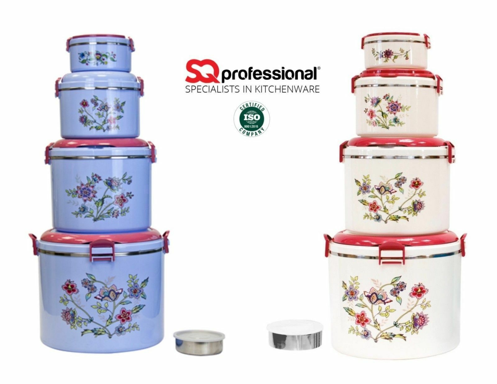 5pc Elite Jumbo ROUND HOT Isolato Casseruola Scaldavivande Hot Pot Set Pan PIC-NIC