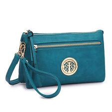 New Dasein Women Leather Crossbody Messenger Bag Wallet Double Use Purse Handbag