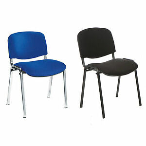 Image Is Loading ISO Stacking Chair Blue Or Black Fabric School