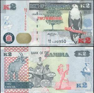 Sambia 2 Kwacha. Papier UNZ 2012 (2013) Banknote Kat# P.49a