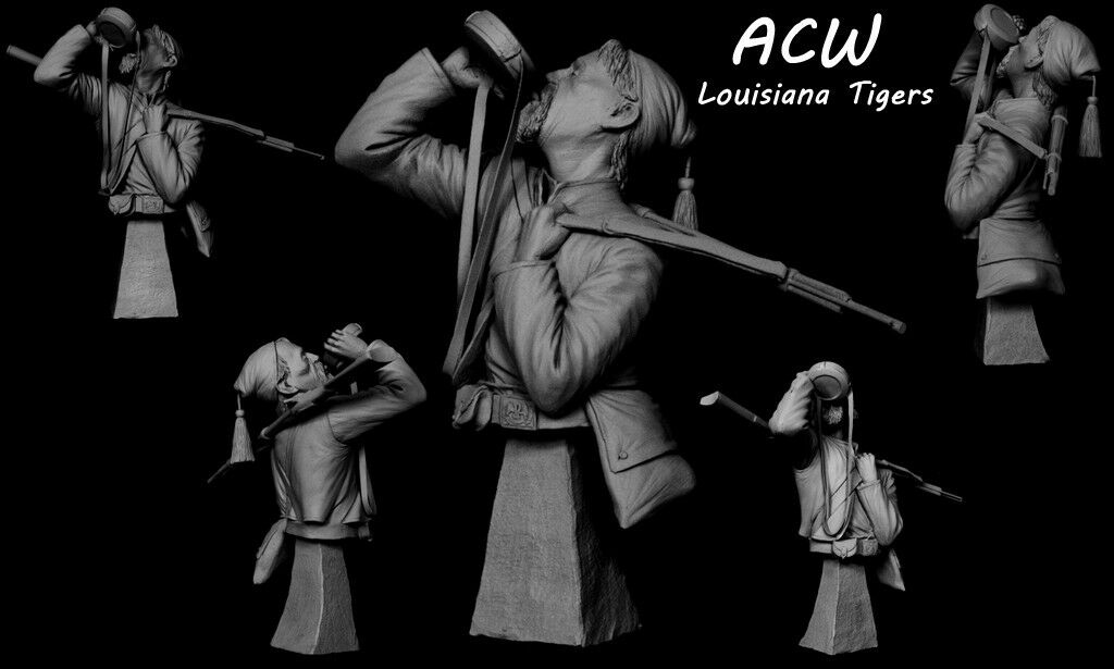SK Miniatures Louisiana Tiger Zouave ACW 1 9th Unpainted kit CARL REID