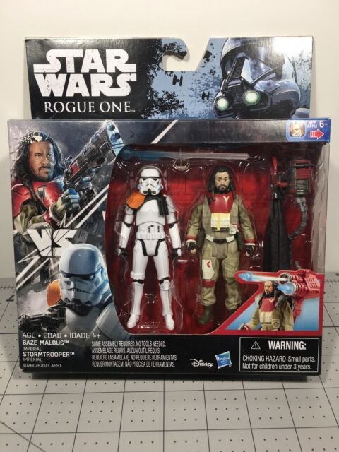 """Star Wars Rogue One Baze Malbus vs Imperial Stormtrooper Figures 3.75/"""""""