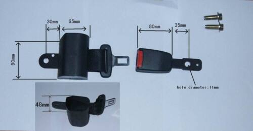 """two point retractable Automatic Lock lap seat belt 50/"""" max length right /& left"""