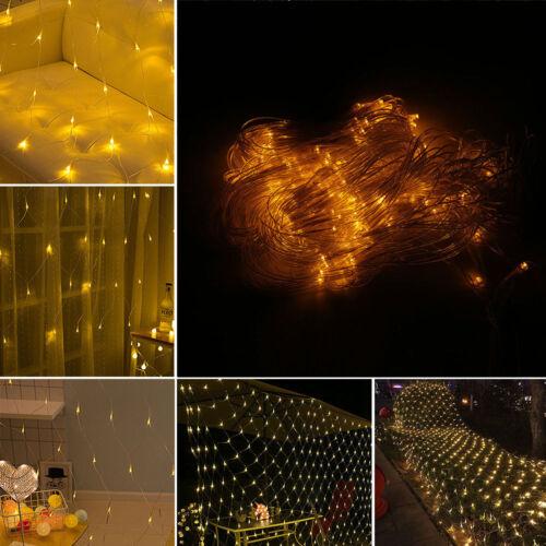 LED String Fairy Lights Net Mesh Curtain Xmas Wedding Party Bar TV Lamp 2.5M 3M