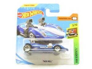 Hotwheels-Twin-Molino-Azul-Hw-Exotics-Tarjeta-Corta-FJY51-1-escala-64-Sellado