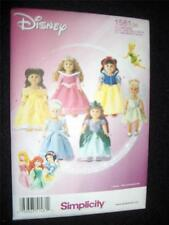 """18"""" DOLL NEW Simplicity 1581 Pattern 6 Princess Dresses Fits American Girl"""