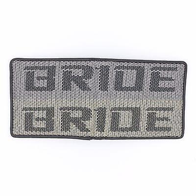 JDM Bride Custom Stitched B//G Racing Fabric Bifold Wallet Leather Gradate Men