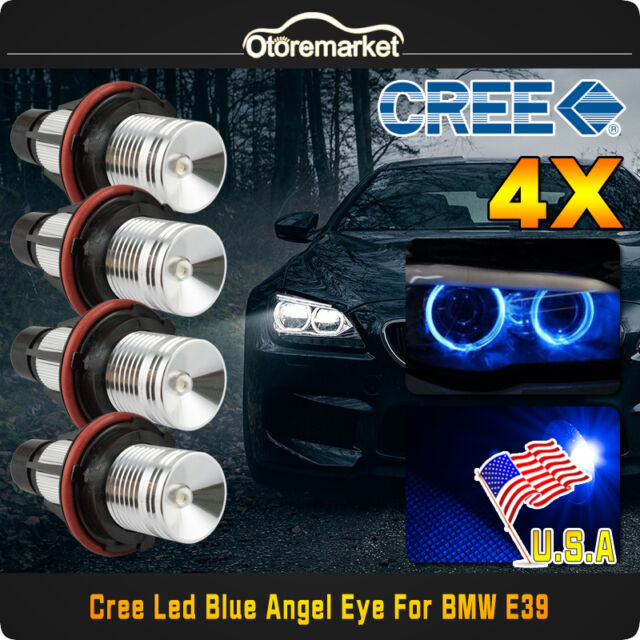Pair Cree 8 Led Angel Eyes Lights Halo Ring Bulbs For Bmw E90 Lci