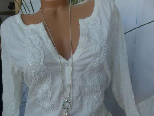 36 bianco con pizzo 294 Cheer Cardigan Camicia manica lunga tg NUOVO