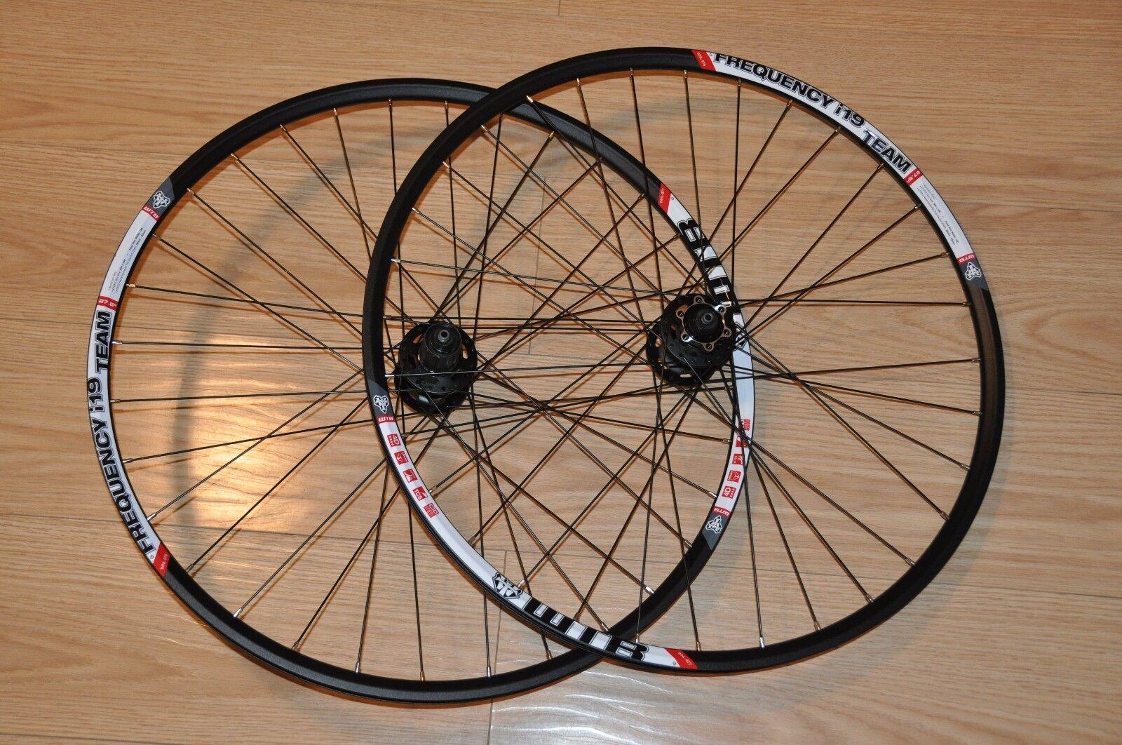 WTB Frequency i-19 650B 27.5 Rims on shimano xt 6 bolt disc set of wheels 32