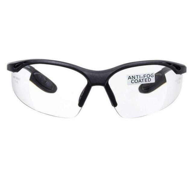 Anti-fog and Anti-scratch Clear Lens voltX CONSTRUCTOR Wraparound Safety Glasses//Cycling Sports Glasses CE EN166F certified Class 1 UV protection.