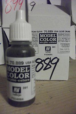 MODEL HOBBY PAINT 17ml BOTTLE   VAL889  AV Vallejo Model Color - US Olive Drab