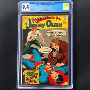 SUPERMAN'S PAL JIMMY OLSEN #120 💥 CGC 9.4 💥 One Punch Man! Neal Adams DC 1969