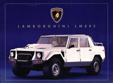 Lamborghini LM002 LM Original Car 1-page Brochure Sheet
