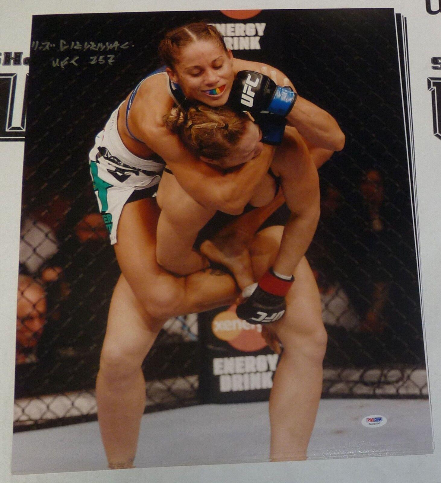 Liz Carmouche Firmado UFC 157 16x20 Foto PSA DNA COA vs Ronda Rousey Girlrilla