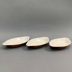 DC-529-Oval-Au-Gratin-Brown-Bone-Bowls-Dishes-Lot-of-3