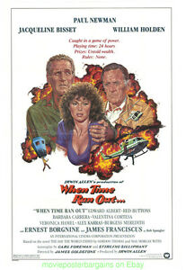 WHEN-TIME-RAN-OUT-MOVIE-POSTER-27x41-Folded-PAUL-NEWMAN-JACQUELINE-BISSET-1980