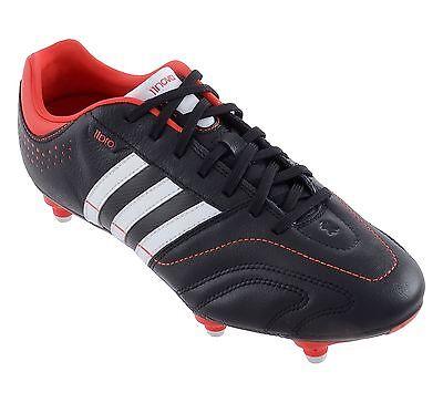 scarpe da calcio adidas 11 Nova SG G97452 nero bianco rossa tacchetti a sei | eBay