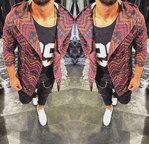 Oversize-Pullover-Cardigan-Kapuze-Strickjacke-Herren-Design-Swag-Style-Luxus-Neu