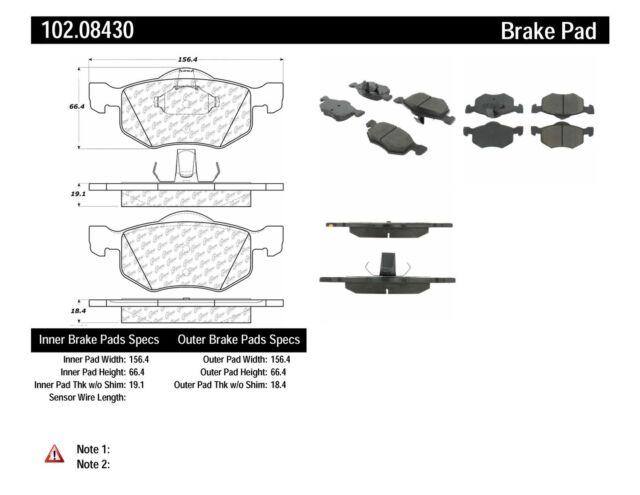 Centric Disc Brake Pad 103.08430