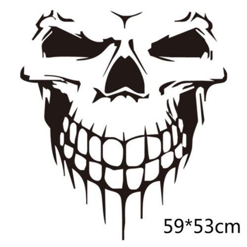 Big Skull Skeleton Car Hood Decal Rear Vinyl Side Door Sticker For Car Window