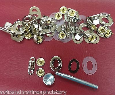 10 Common Sense Twist Lock Fasteners Sail Cover Dodger with Eyelet /& Stud 30 Pc