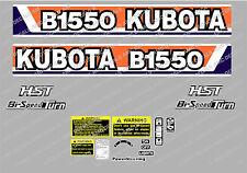 KUBOTA B1550 HST COMPATTO Trattore ADESIVO DECALCOMANIA
