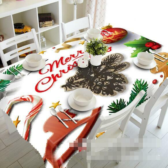 3D Christmas 8 Tablecloth Table Cover Cloth Birthday Party Event AJ WALLPAPER AU