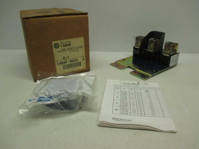 Allen Bradley 1494F-R633 30A 600V Class R Fuse Block Adapter Plate Kit