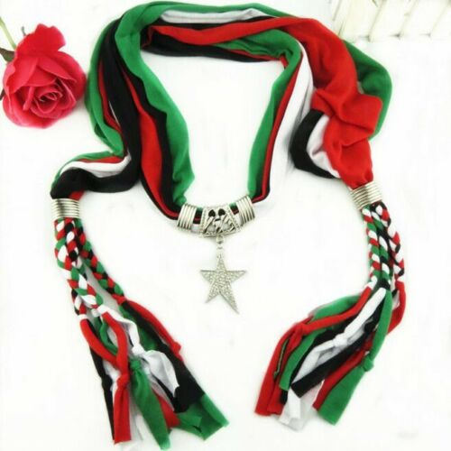 Fashion Handmade Necklace Scarf Soft Star Pendant Women/'s Accessory Jewelry Gift