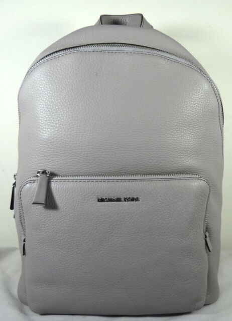 391412ad5c7e Michael Michael Kors Wythe Pearl Grey Pebbled Leather Large Backpack
