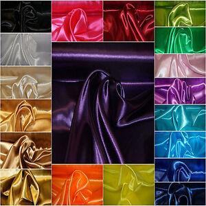 3 Meter Satin Stoff Dekostoff Mode Hochzeit Futterstoff Gardinen glänzend 150 cm