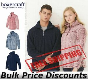 Boxercraft-Unisex-Sherpa-Quarter-Zip-Pullover-Sweatshirt-Sweater-Q10-up-to-3XL