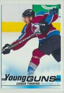 2019-20-Upper-Deck-Series-1-Rookie-Young-Guns-203-Conor-Timmins-Avalanche