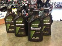 Kawasaki Genuine 6 Quarts 4 Stroke Motor Oil 10w40 Atv Brute Force Teryx Mule