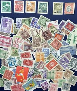 LOT-OF-100-CHINA-STAMPS-SURCHARGE-GEESE-SYS-MAO-AIRMAIL-AND-MORE