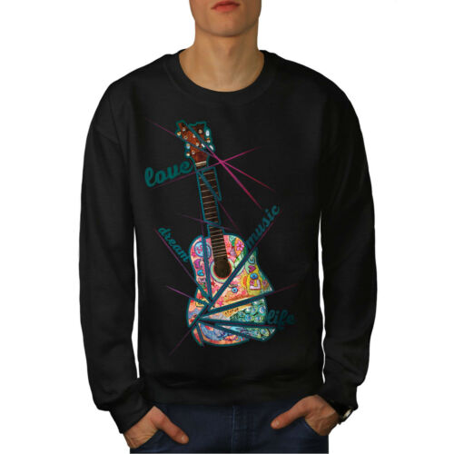 Hippie Style New Men Life Sweatshirt Black qCWCr0xSvw